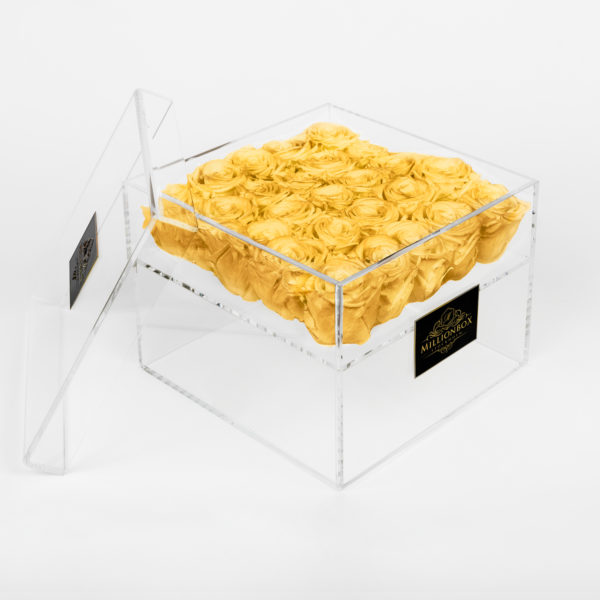 Infinity Box with Yellow Rose | Millionbox.se