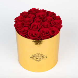 Lavinia Gold with Red Rose | Millionbox.se