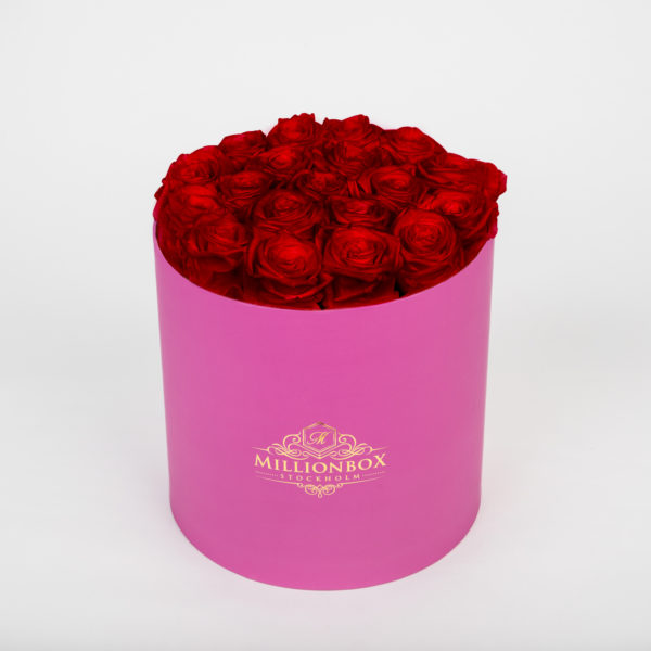 Lavinia Pink with Red Rose | Millionbox.se